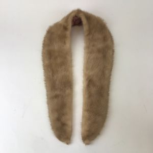 Vintage Mink Fur Collar Light Brown